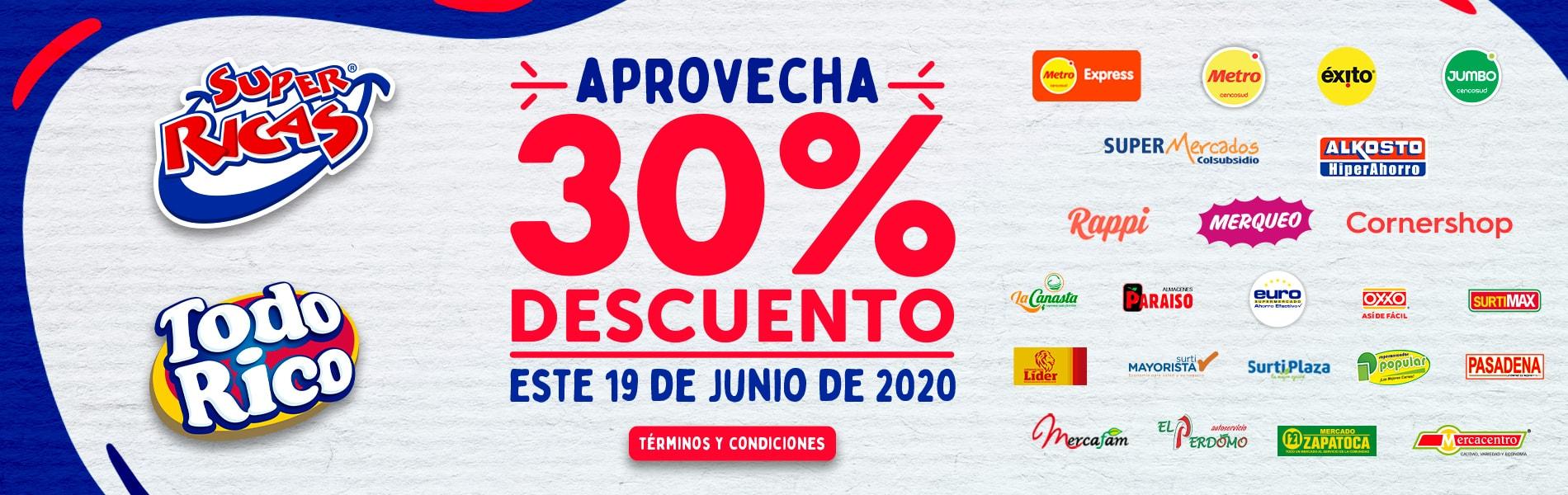 Slide Descuento 30%